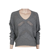 VOLCOM 【LATE NIGHT CONVERTIBLE SWEATER】 GREY VINTAGE HEATHER