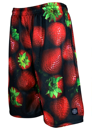 HXB 【Graphic Mesh Pants】 STRAWBERRY
