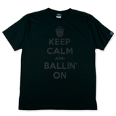 HXB コットンTEE【KEEP CALM】  Black/Black