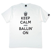 HXB コットンTEE【KEEP CALM】 White/black