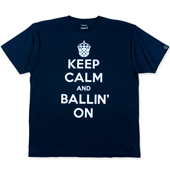 HXB コットンTEE【KEEP CALM】  Navy/White