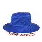 HUGEBLOCKS 【NYLON SAFARI HAT】 BLUE
