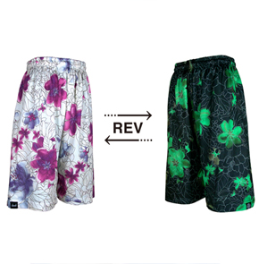 HXB 【REVERSIBLE MESH PANTS】 DRAW FLOWERS
