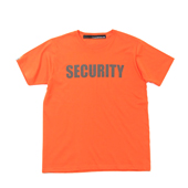 SALE!! HUGEBLOCKS 【SECURITY T-shirt】 ORANGE