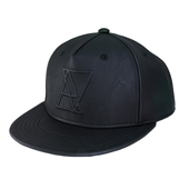 FAUX LEATHER LOGO SNAPBACK(フェイクレザー ロゴスナップバック)