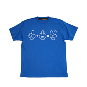 SALE!! HUGEBLOCKS 【1+FUCK=peace T-shirt】 BLUE / Reflecter