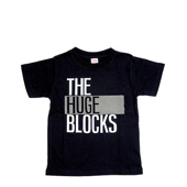 HUGEBLOCKS 【THE HUGE BLOCKS T-shirt】 BLACK×white+refre キッズ