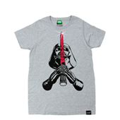 SUPER 7  【STAR WARS SABER & VADER T-shirt】 GRAY