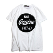 SALE!! Terrible Whore 【COCAINE FIEND T-shirt】 WHITE