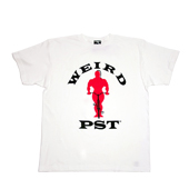 WEIRD 【MACCHO T-shirt】 WHITE×red+black
