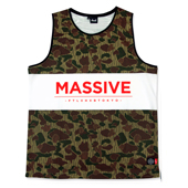 HXB GRAPHIC MESH TANK 【Rain Hunter Camo】