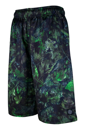 HXB 【Graphic Mesh Pants】GREEN WITHERED