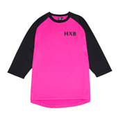 HXB Mesh 3/4 Sleeve Tee 【Xover】 PINK/BLACK