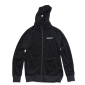 30%OFF SALE!! HUGEBLOCKS 【VELOUR ZIP PARKA】 Black