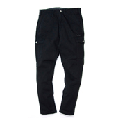 HUGEBLOCKS X WWS 【LOW CROTCH CARGO PANTS】 BLACK