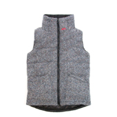 HUGEBLOCKS 【NEP WOOL VEST】 GRAY
