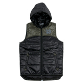 30% OFF SALE!! HUGEBLOCKS 【NYLON VEST HOODIE】 BLACK
