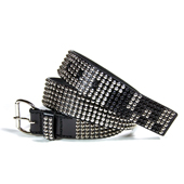 HUGEBLOCKS 【JAGI-belt】 BLACK/silver