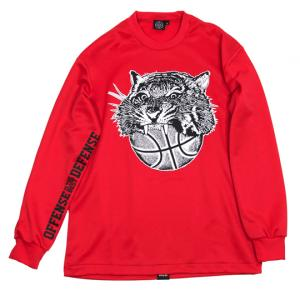 HXB 【TIGER BALL LongSleeveTee】 RED