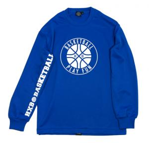 HXB 【PLAY FUN BALL LongSleeveTee】 BLUE